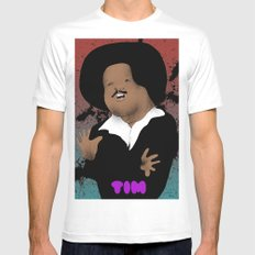 The Great Tim Maia MEDIUM White Mens Fitted Tee