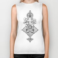 ganesh Biker Tanks featuring Ganesh by N.I.S.