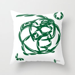 LAUREL GREEN: peace and prosperity Throw Pillow
