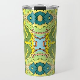 Lettuce Bloom Kaleidoscope Travel Mug