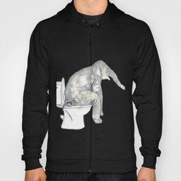 Elephant toilet Painting Wall Poster Watercolor Hoody