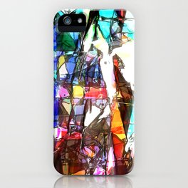 Light Streaming Through Stained Glass iPhone Case