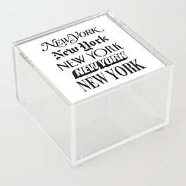 I Heart New York City Black and White New York Poster I Love NYC Design black-white home wall decor Acrylic Box