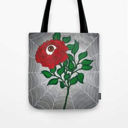 Caught -Eyeball Flower Tote Bag