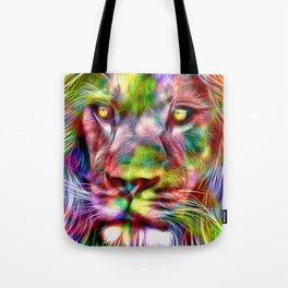 Lion in Color Tote Bag
