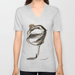 Ballet Dance Drawing Unisex V-Neck