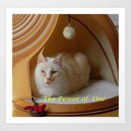 My cat is my zen master Art Print