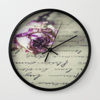 letter Wall Clocks featuring Love letter by Maria Heyens