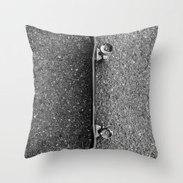 Resting Skateboard Throw Pillow