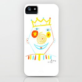 Pablo Picasso Le Clown (The Clown) Artwork Reproduction, tshirt, tee, jersey, poster, artwork iPhone Case