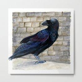 Tower Raven Metal Print