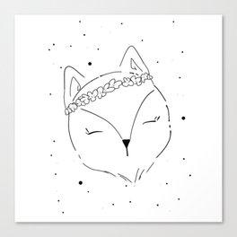 Fox Blossom illustration Canvas Print