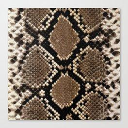Faux Python Snake Skin Design Canvas Print