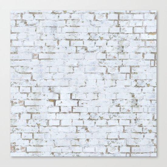 Vintage White Brick Wall Canvas Print