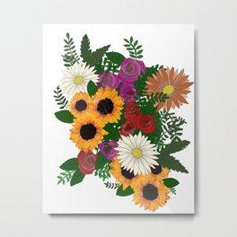 Mixed floral bouquet  Metal Print