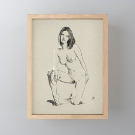 Model pose sketch 04 Framed Mini Art Print