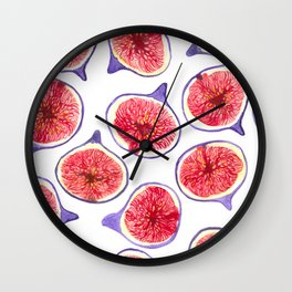 Fig slices watercolor Wall Clock