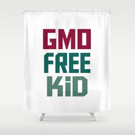 GMO FREE KID Shower Curtain
