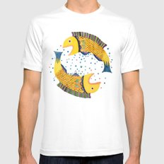 swimming circle White MEDIUM Mens Fitted Tee