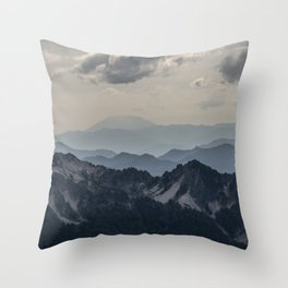 Distant Helens Throw Pillow