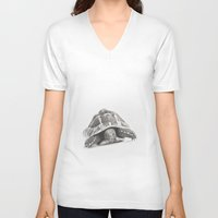 tortoise V-neck T-shirts featuring Tortoise by Vicky Lewis