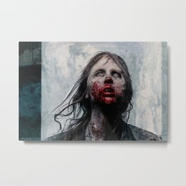 The Lone Wandering Walker - The Walking Dead Metal Print
