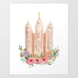 SLC LDS temple Art Print