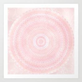 Pastel Pink Mandala Art Print