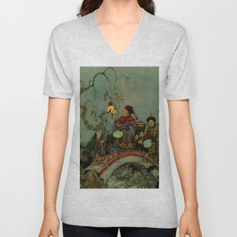"""In Search of a Nightingale"" by Edmund Dulac Unisex V-Neck"