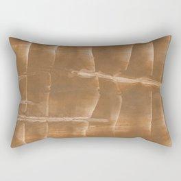 Sienna blurred wash drawing Rectangular Pillow