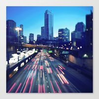 seattle Canvas Prints featuring Seattle by Aaron Morris