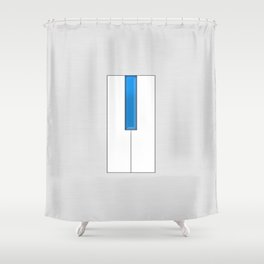 Blue Piano Shower Curtain