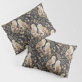 Wooden Wonderland Barn Owl Collage Pillow Sham