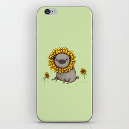 Pugflower iPhone Skin