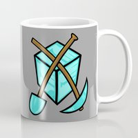 geology Mugs featuring It's All About The Diamonds by Artistic Dyslexia