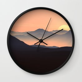 Sunset Mountain Wall Clock