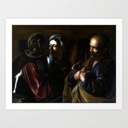 Caravaggio The Denial of Saint Peter Art Print