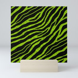 Ripped SpaceTime Stripes - Lime Mini Art Print