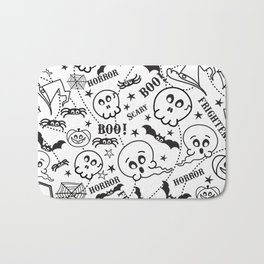Cute horror halloween cartoon pattern Bath Mat