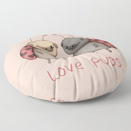 Love Pugs Floor Pillow