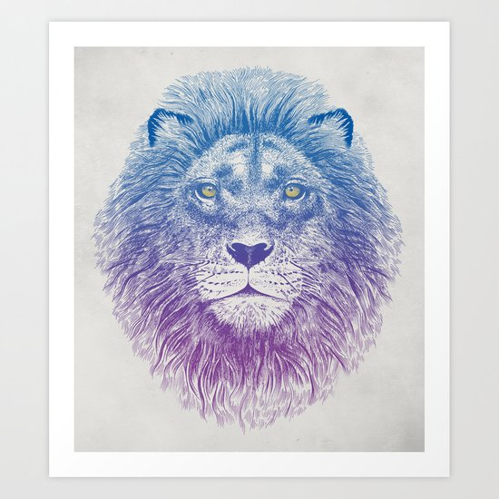 Face of a Lion Art Print