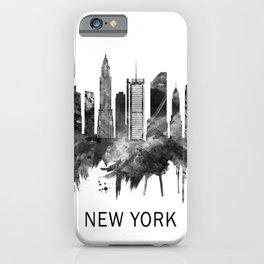 New York City Skyline BW iPhone Case