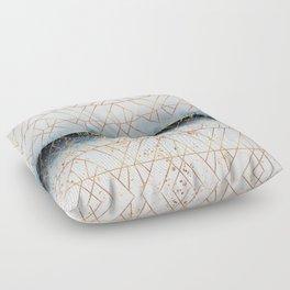Winter Blue Geo Floor Pillow