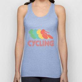 Cyclist Retro Pop Art Cycling Graphic Unisex Tank Top