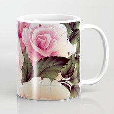 pink rose on old tile Coffee Mug