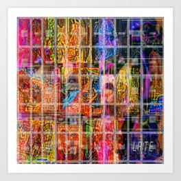 Caged Late Art Print