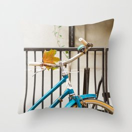 Brooklyn in October - Bicycle Photography Throw Pillow