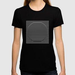 Circle over black T-shirt