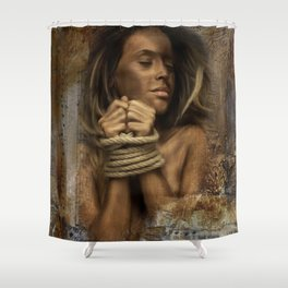 Vintage bounded Shower Curtain