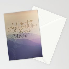 Adventure is out there! View over hills Stationery Cards